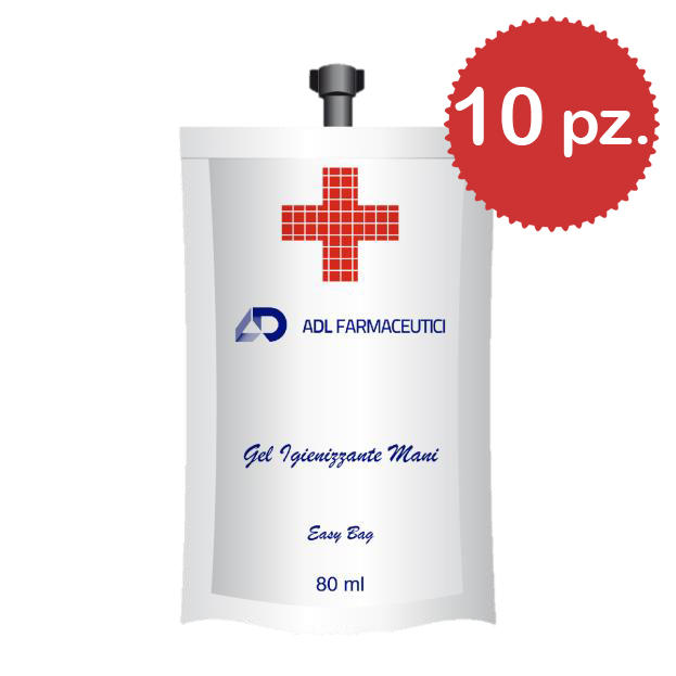 Gel Igienizzante Mani EasyBag 10 x 80ml