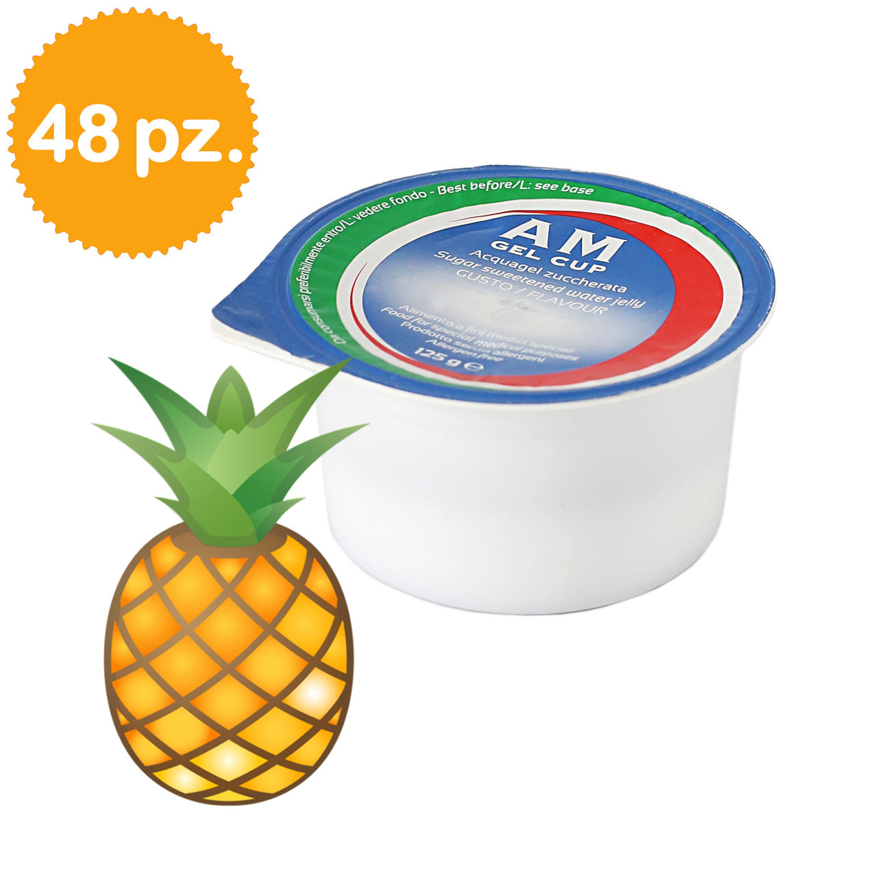 AM Gel Cup Acquagel Ananas con zucchero 48x125g