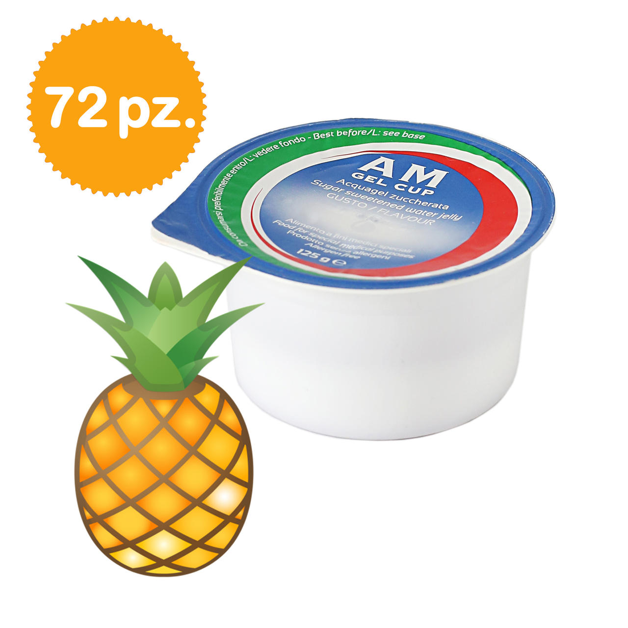 AM Gel Cup Acquagel Ananas con zucchero 72x125g