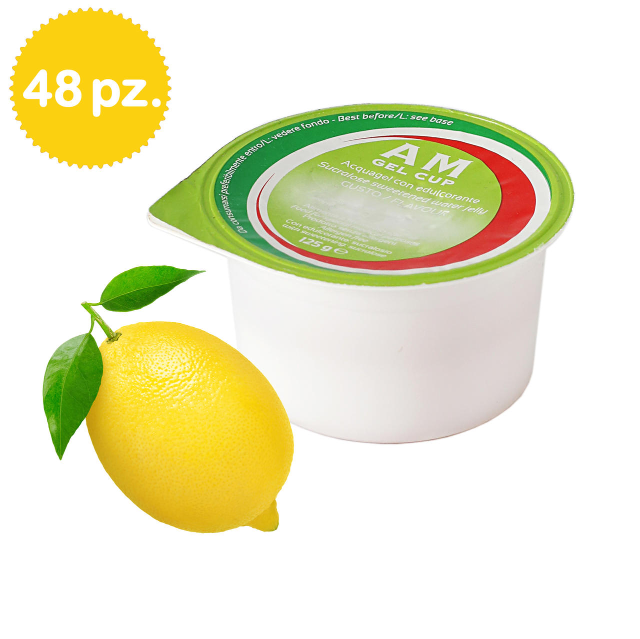 AM Gel Cup Acquagel Limone con edulcorante 48x125g