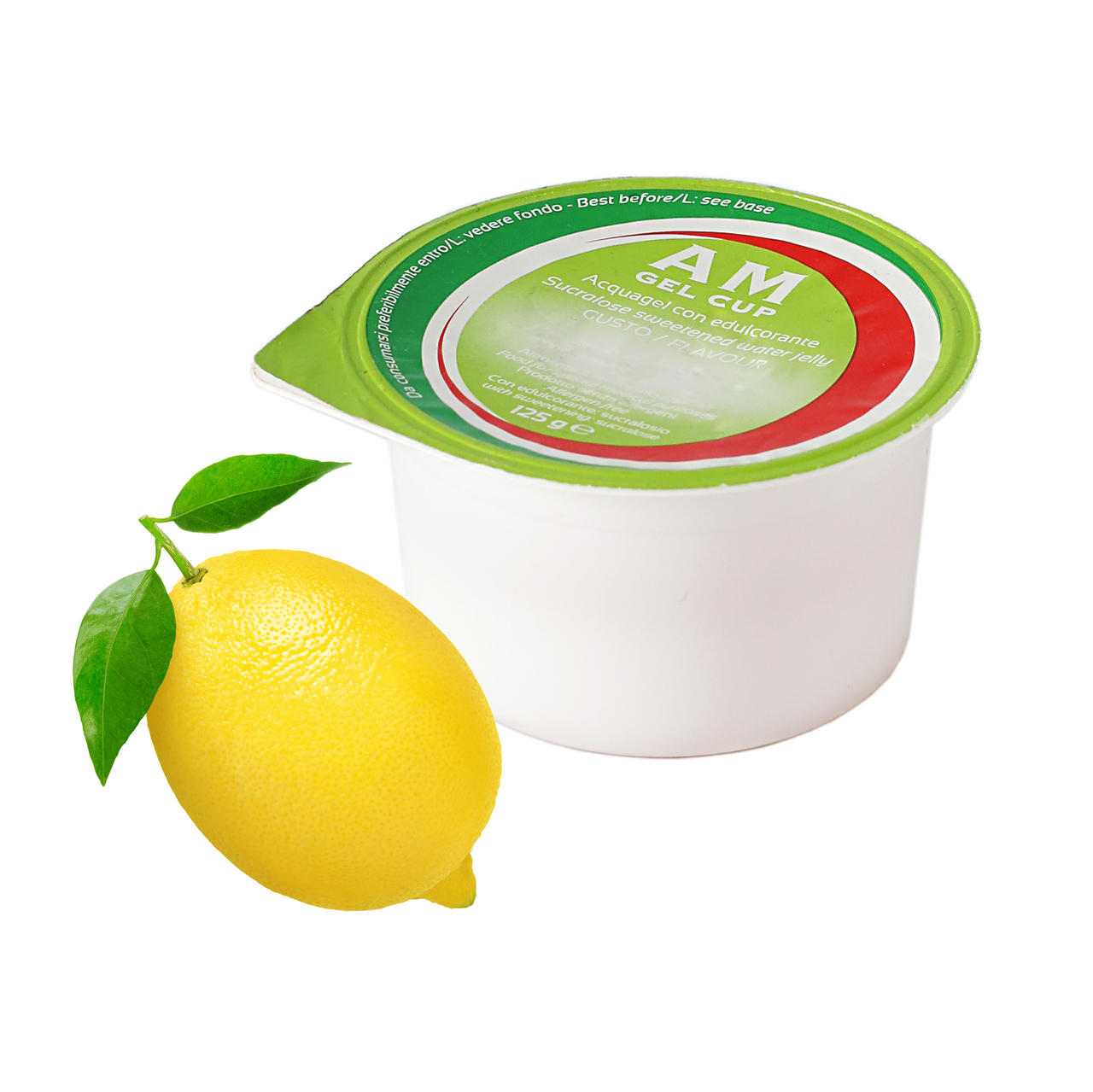 AM Gel Cup Acquagel Limone con edulcorante 24x125g